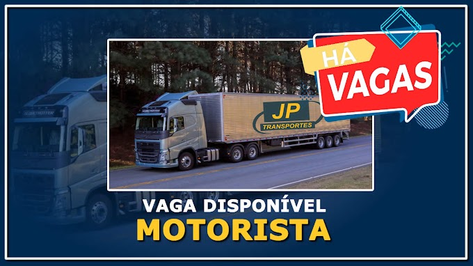 JP Cargo abre vagas para Motorista Carreteiro