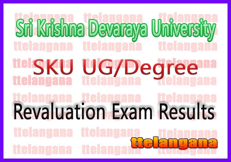 Sri Krishna Devaraya University UG Degree 1st 2nd 3rd Year Revaluation Results