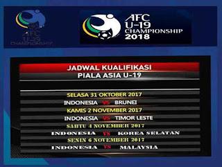 Jadwal Indonesia di Piala Asia U-19 2018