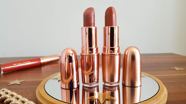 Revolution Iconic Matte Nude Ruj Inclination ve Revolution Rose Gold Ruj Chauffeur