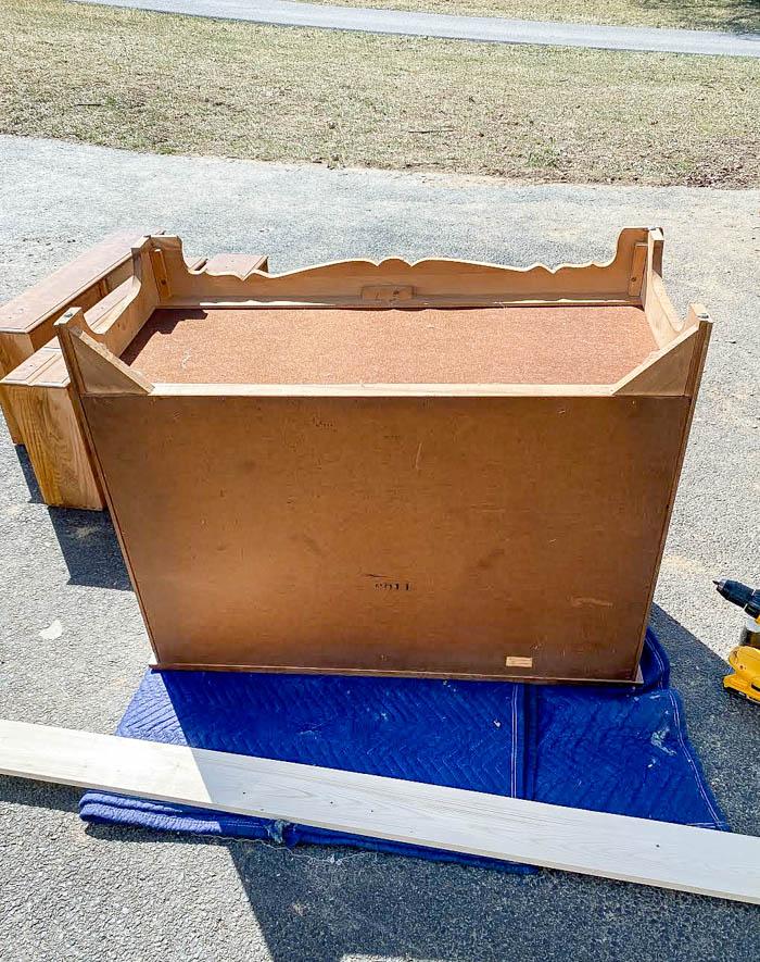 removing dresser base