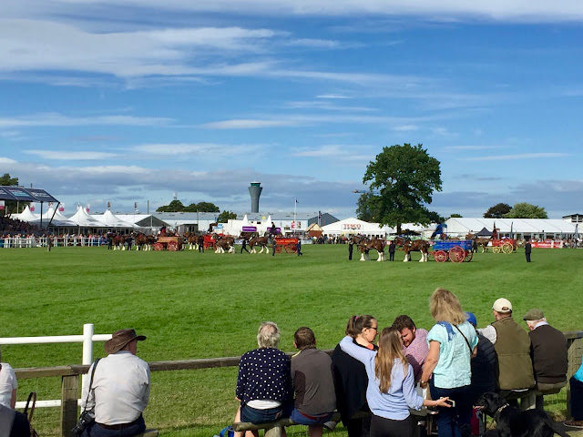 Main arena at the Royal Highland Show, Edinburgh, Scotland