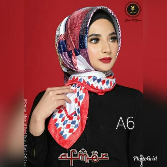 Jilbab Segi Empat Afmer Motif Cantik Islamic Terbaru