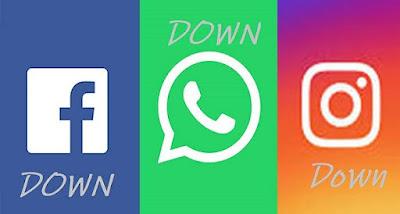Facebook, instagram, whatsapp down