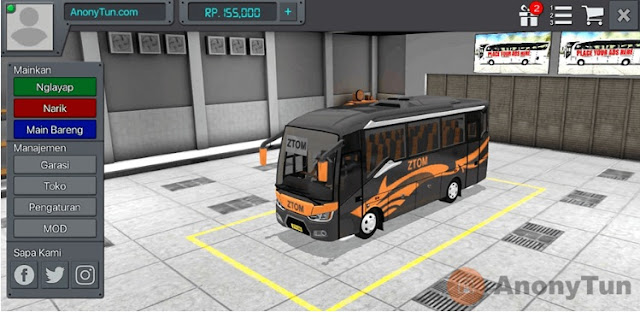 MOD BUSSID All New Tourista ZTOM
