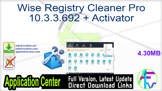 Wise Registry Cleaner Pro 10.3.3.692 + Activator