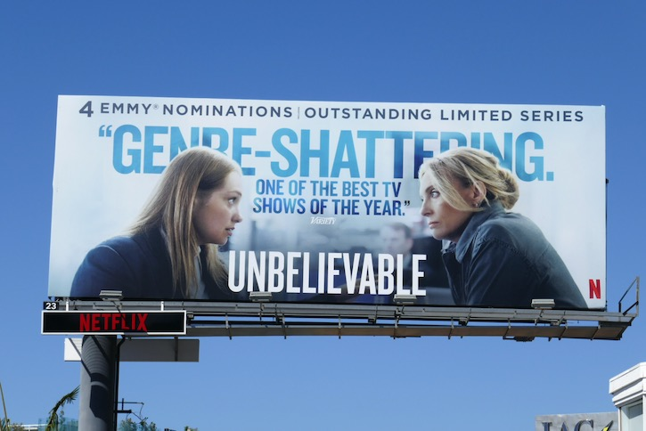Unbelievable Emmy nominee billboard