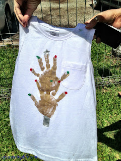 Christmas trees can also be made from handprints