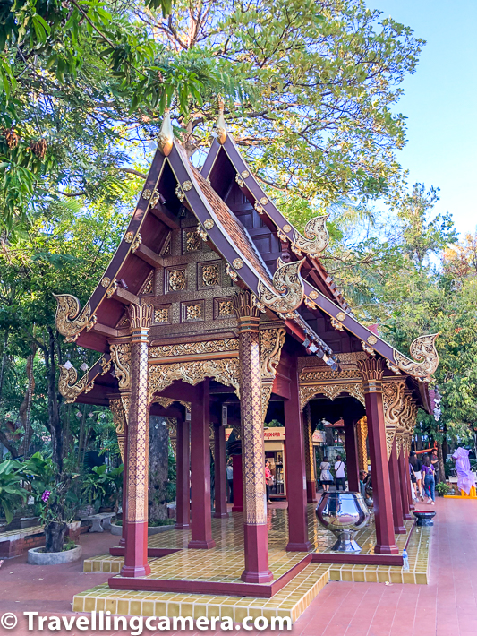 Related Blogpost - Temple on the Hill, Tribe in the forest, and more in Chiang Mai || 10-Day Vacation in Thailand (Day 2)    Wat Phra Singh offers a good diversity of architectures and colorful feel of the place. It's a lot golden and interiors of the temples even more beautiful. Chinag Mai has 300+ temples in the city but Wat Phra Singh is certainly special to ensure it's in the list of main places to explore in Chinag Mai, when you are in this beautiful city of Thailand.