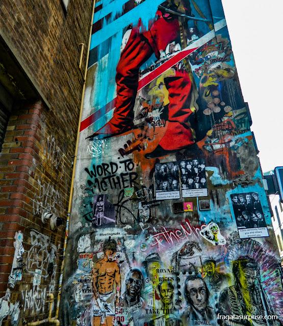 Londres - grafite no bairro de Brick Lane