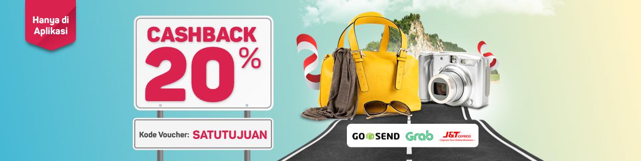 Bukalapak - Promo 17an Dapat Voucher Cashback 20% (s.d 30 Agustus 2018)