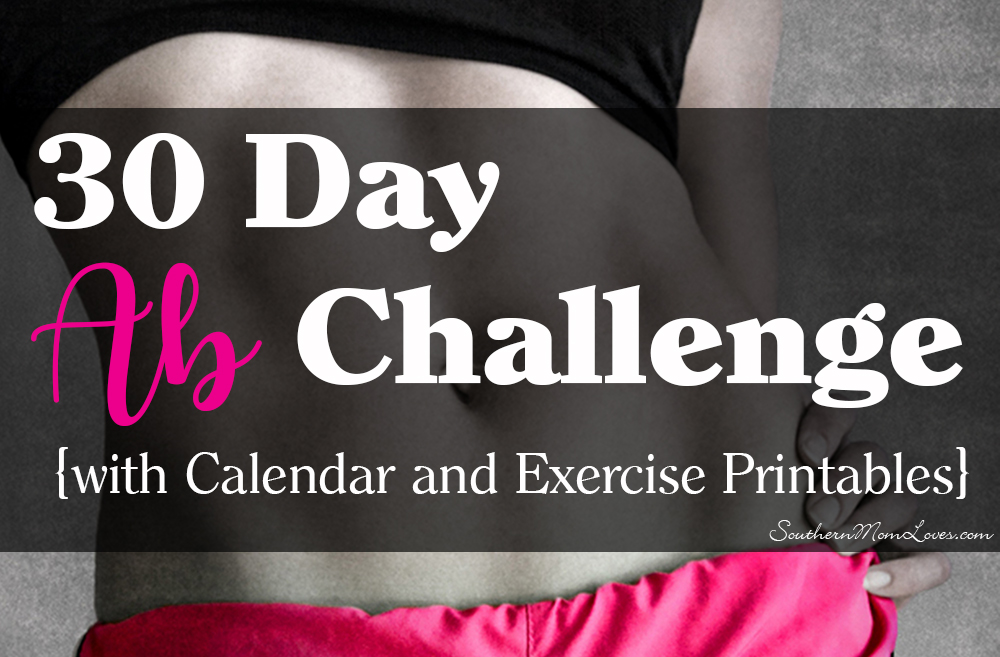 photograph regarding Printable Ab Workout called Southern Mother Enjoys: 30 Working day Ab Difficulty with Calendar and