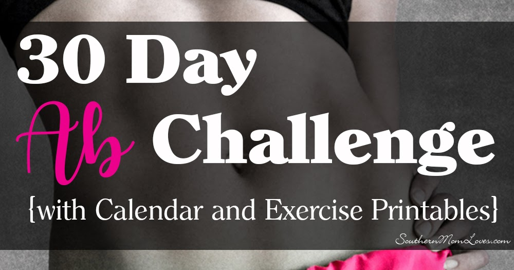 This is an image of Printable 30 Day Ab Challenge throughout weight loss