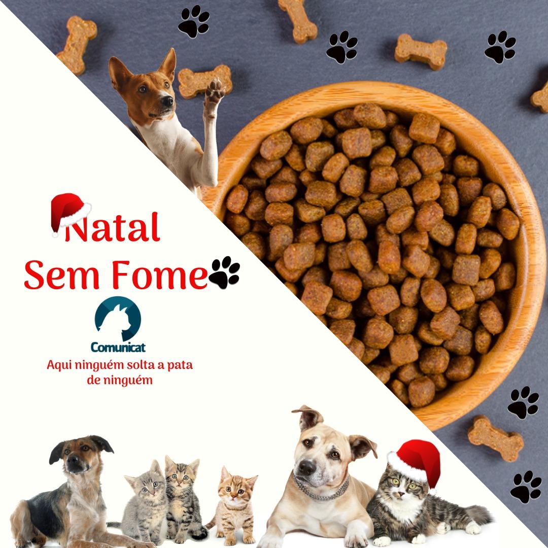 Doe ração arrecadação de raçao cães gatos