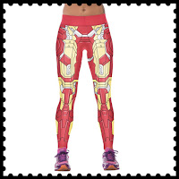 Style Athletics Workout Clothes Amazon Online Activewear Active Clothing Shop Crop Pants Leggings Yoga Ironman Iron Man Red Yellow