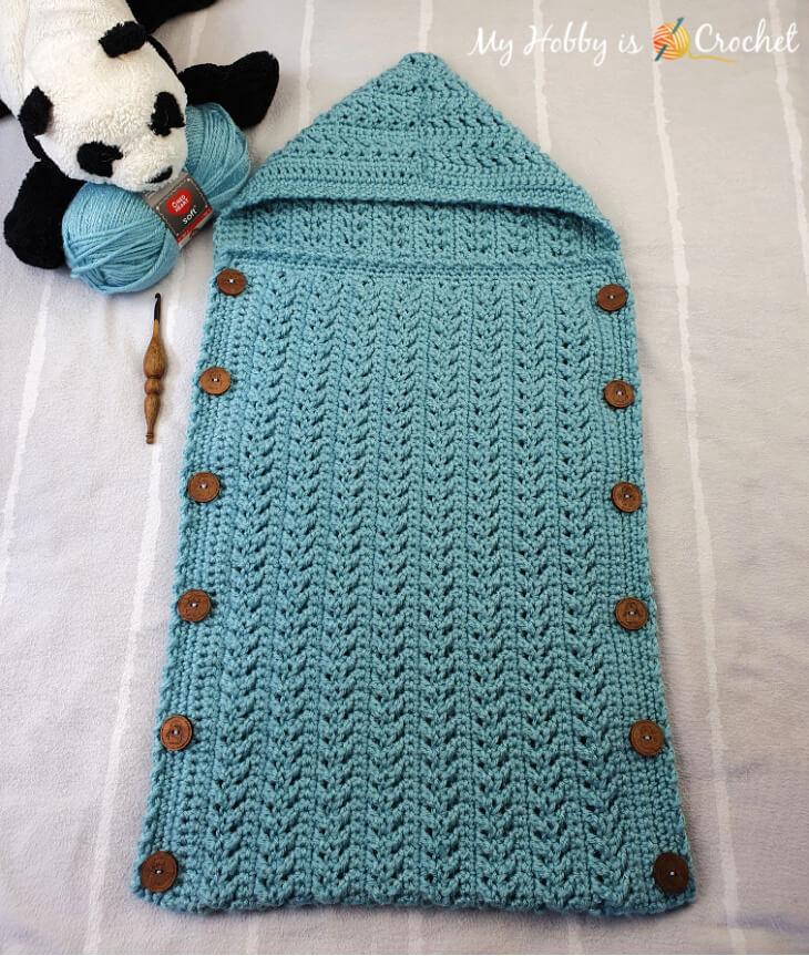 Crochet Baby Bunting,crochet baby sleeping bag