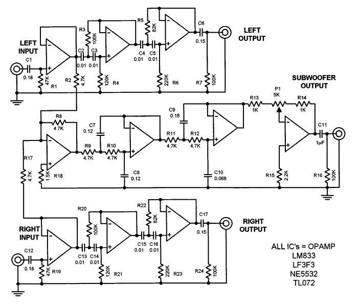 Bobo Elektronik: mencari skema audio subwoofer LF353