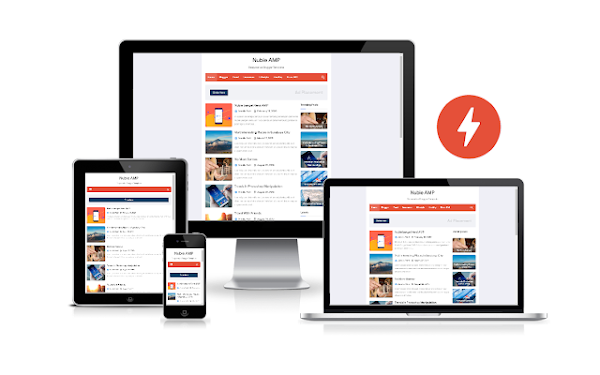 Nubie AMP Responsive Blogger Template Free Download