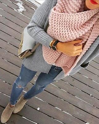 Vestimentas con BUFANDAS para lucir casual y no congelarte en invierno