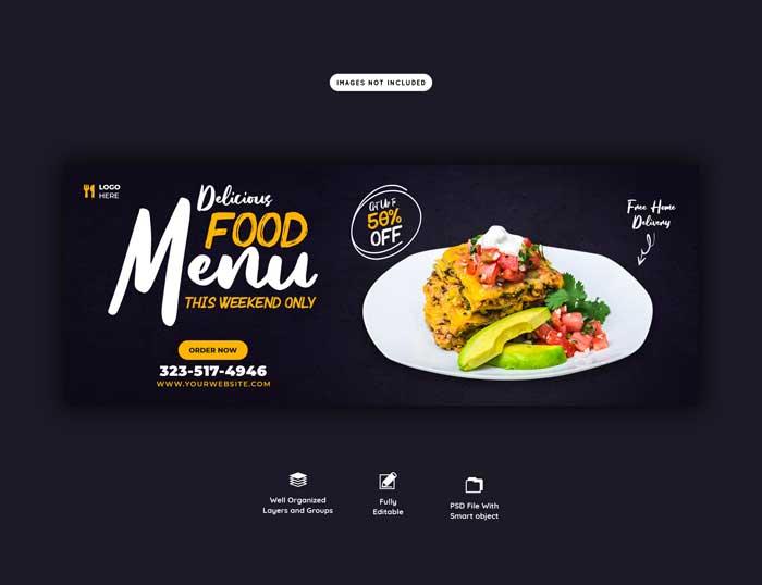 Food Sales Menu Web PSD Template V-4