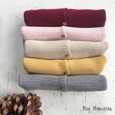 nueva colección punto mimuselina blog chaquetas bebé punto bobo unisex otoño invierno 2019 2020