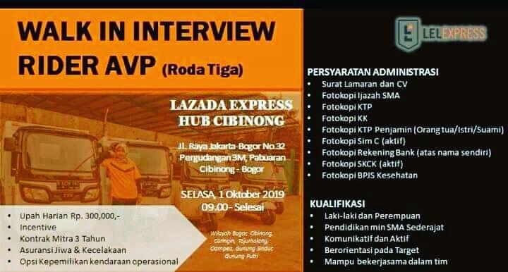 Info Lowongan Kerja Lazada