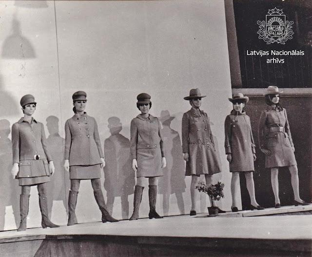 1968 год. Рига. Pavasara-vasaras modes skate Rīgas Modeļu namā (автор фото: E. Fadejevs)