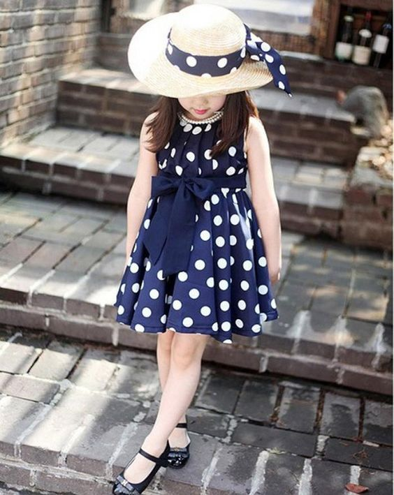Navy Blue and White Dots Image 14