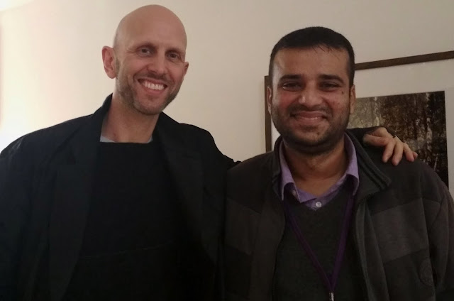 Fim critic Murtaza Ali Khan with world renowned choreographer Wayne McGregor, famous for his work on the Harry Potter and the Goblet of Fire
