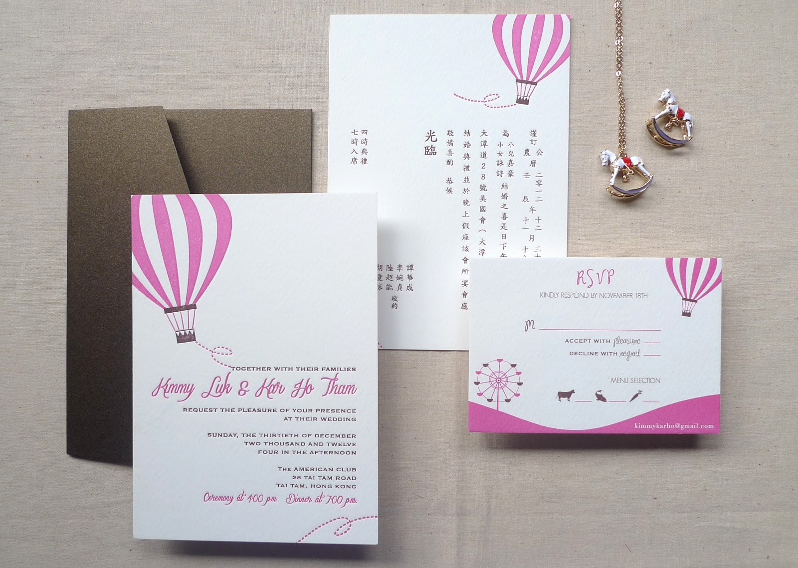 Kalo Make Art Bespoke Wedding Invitation Designs Fly With