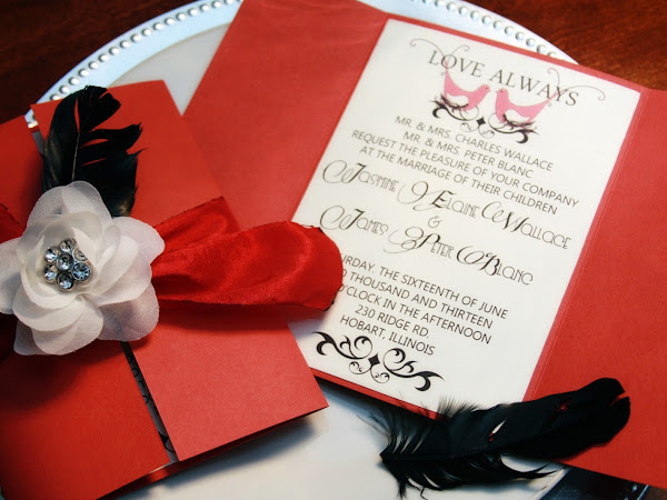Love Always Gatefold Wedding Invitation & Download Freebie