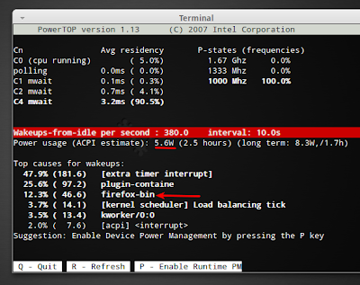 Chromium Causing Increase in Laptop Power Usage Ubuntu 11.04