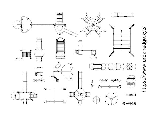 Playground cad blocks, 25+ Playground equipment cad block, Playground equipment dwg
