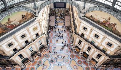 galleria vittorio emenuele milano ottagono mosaici