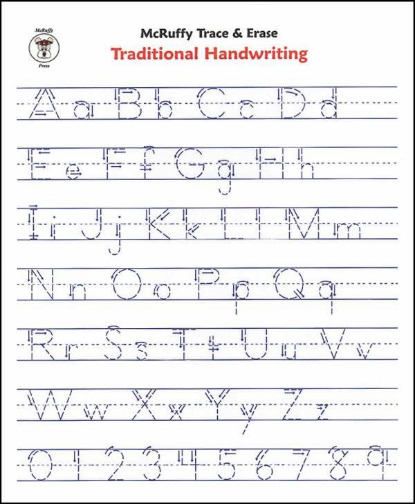 Alphabet in Handwriting