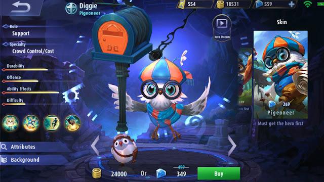 Build Gear Hero Digger Terbaru Full Power Di Mobile Legend