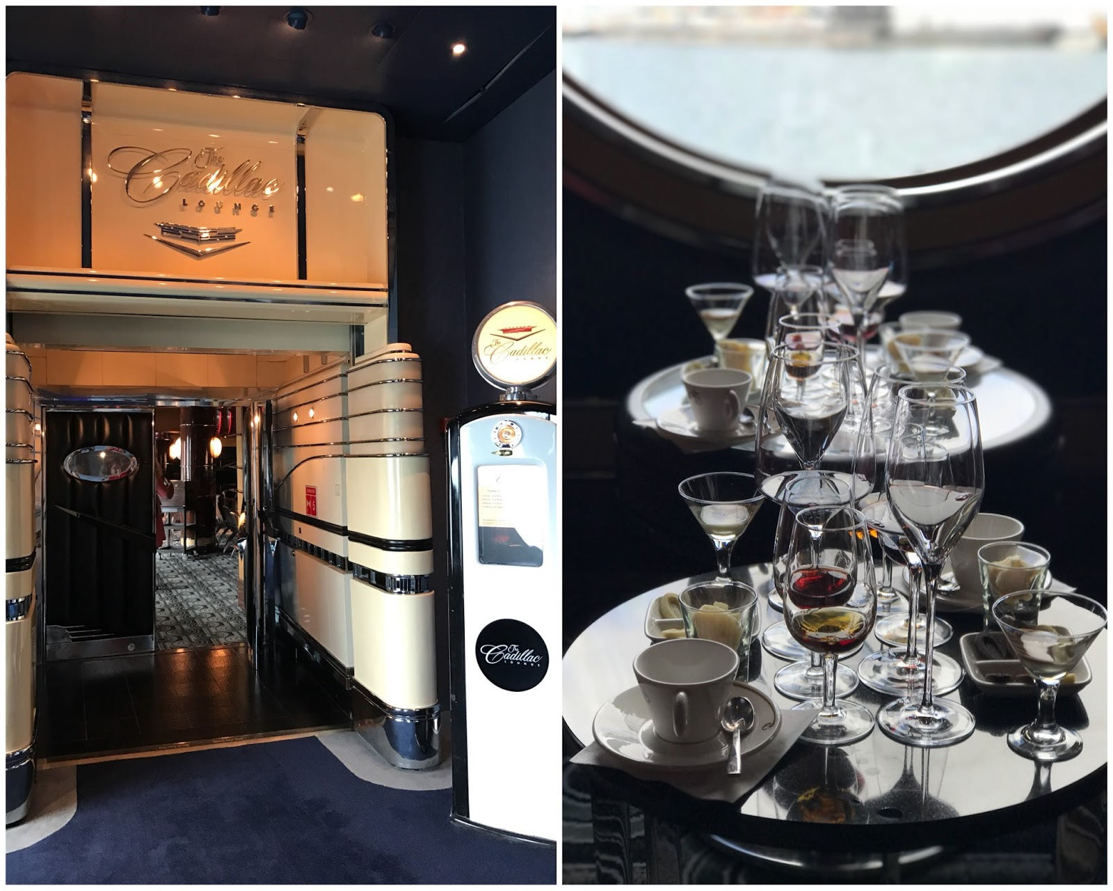 The Cadillac Lounge on Disney Wonder, wine tasting at Disney, wine tasting on Disney cruise ship