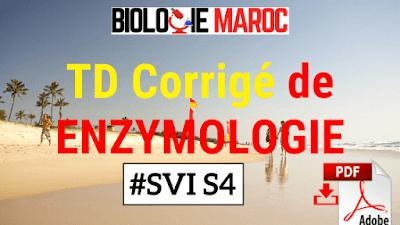 TD et Exercices Corrigés d'Enzymologie et Biochimie Métabolique SVI S4 - PDF