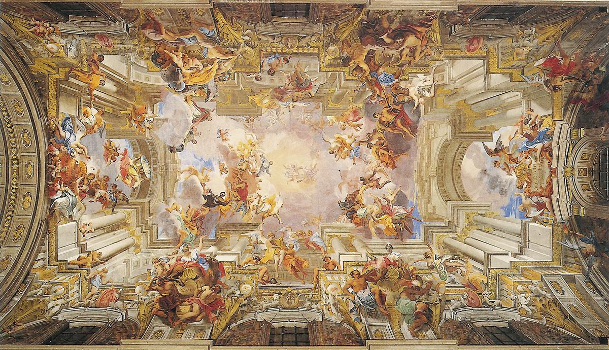The Jade Sphinx The Trompe L Oiel Ceiling Fresco Of Sant