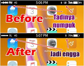 Cara Mengatasi Status Bar Iphone Di Android Yang Menumpuk / Double