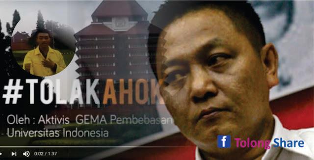 Tak Mengikuti Titah Gubernur Ahok, Rektor UI: Tidak Boleh Pecat Mahasiswa Anti-Ahok!!