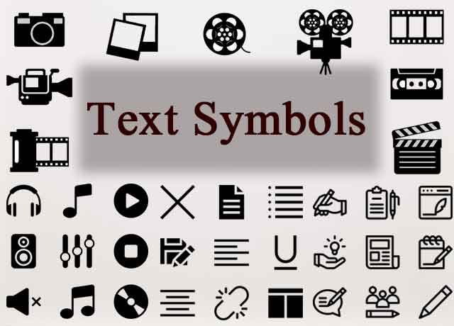 Text Symbols Code and Abbreviation
