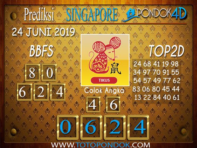 Prediksi Togel SINGAPORE PONDOK4D 24 JUNI 2019