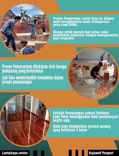 cara pasang lantai kayu merbau