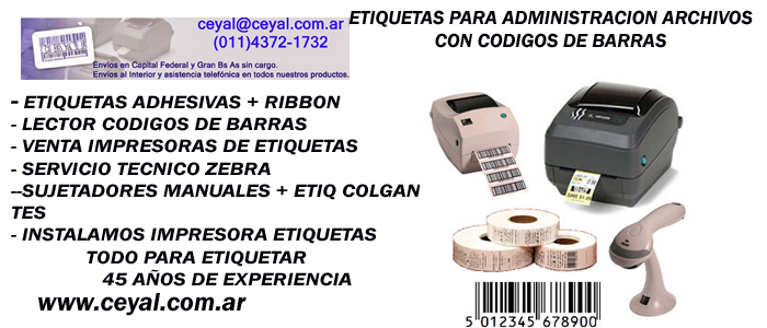 Etiquetas Adhesivas general Roca Argentina