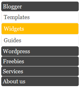 Cara Membuat Widget Menu Accordion