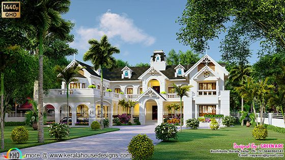 Classic Victorian model house architecture 3d rendering