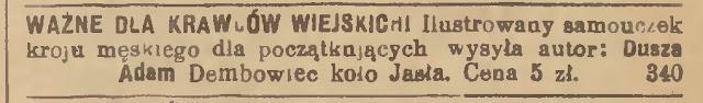 Dębowiec 1926 krawiec
