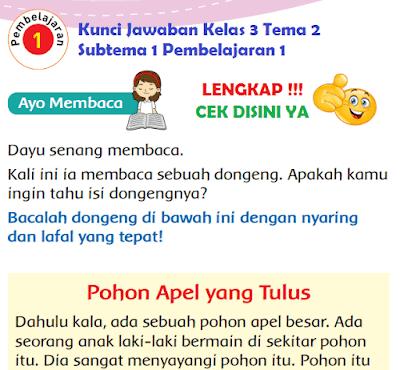 Kunci Jawaban Kelas 3 Tema 2 Subtema 1 Pembelajaran 1 www.simplenews.me