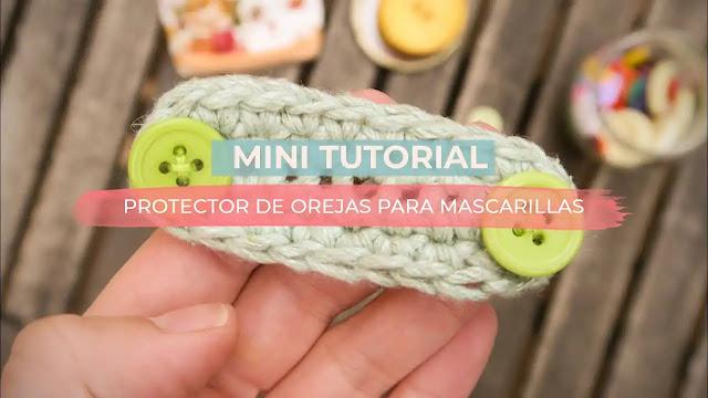 Aprende a tejer un protector de orejas para mascarillas en menos de 5 minutos